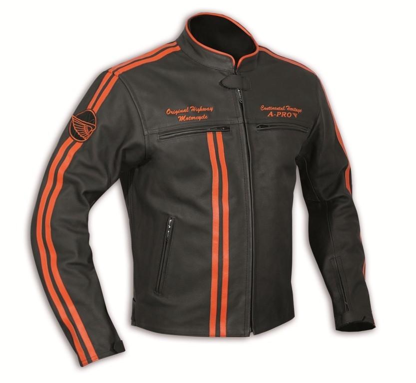 BANDIDOS oranžová - pánská kožená bunda A-pro 3ecbb982e8