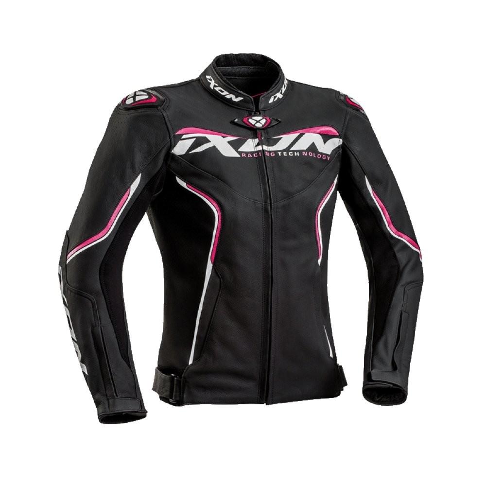 TRINITY 1019 - dámská růžová kožená bunda IXON - 2XL
