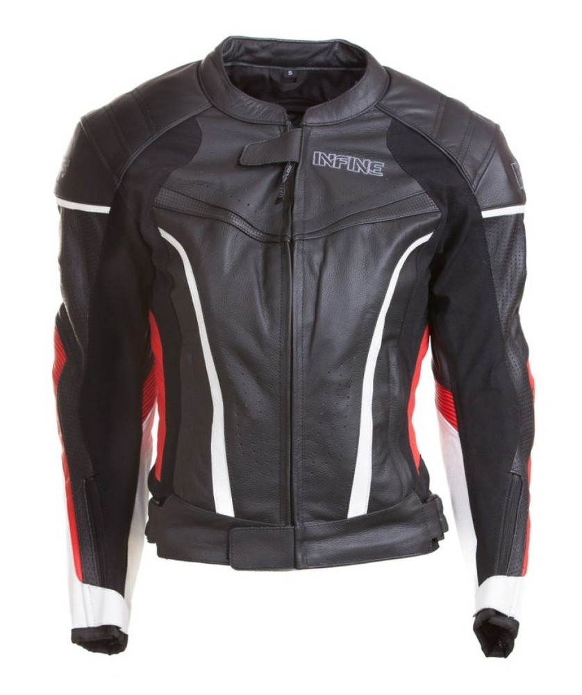 ELENA - dámská černá kožená moto bunda INFINE XS