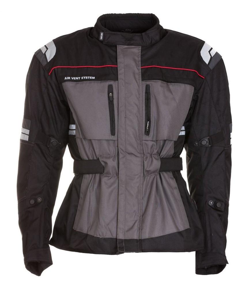 VENOM - šedá textilní moto bunda INFINE S