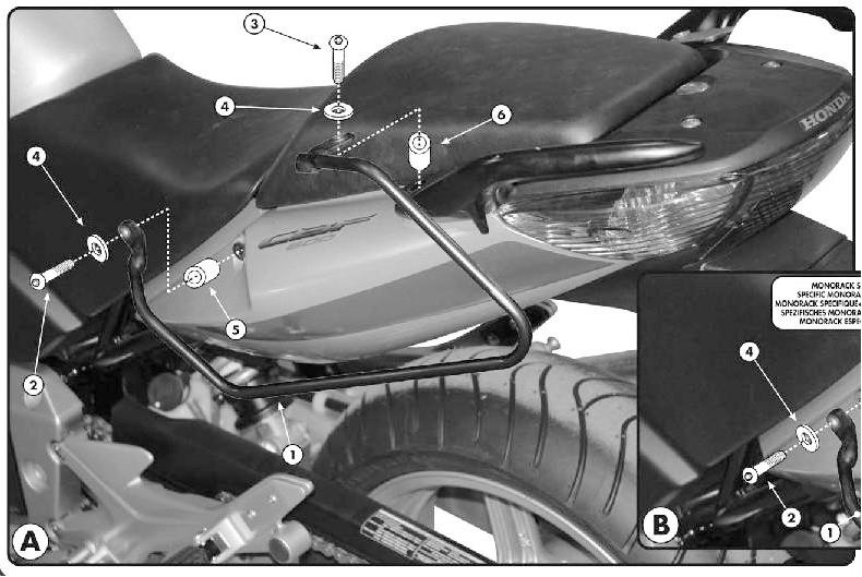 TK218 nosič bočních brašen HONDA CBF 500 / 600 / 1000   (04-12)