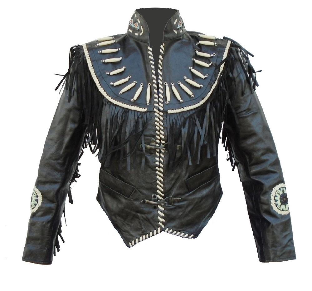 WESTERN LADY černá dámská kožená bunda TORO - M