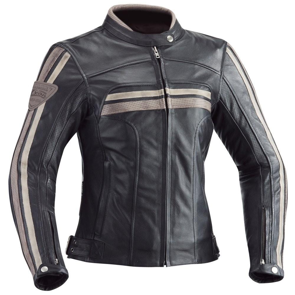 HEROES LADY - dámská černá kožená bunda IXON - M
