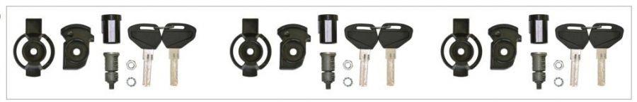 KSL103 - 3 bezpečnostní zámky na kufry KAPPA
