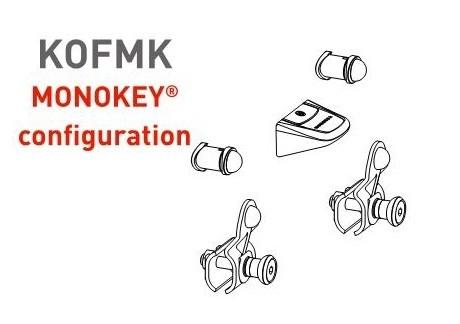 KOFMK redukce pro montáž kufrů Monolock KAPPA