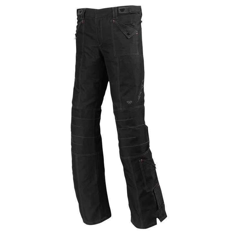 ANGELIC E4517F - dámské černé moto kalhoty Ixon - L