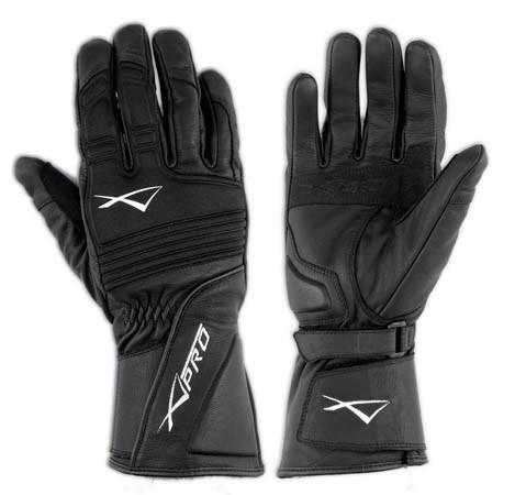 TWISTER- černé textilní moto rukavice A-pro - 3XL