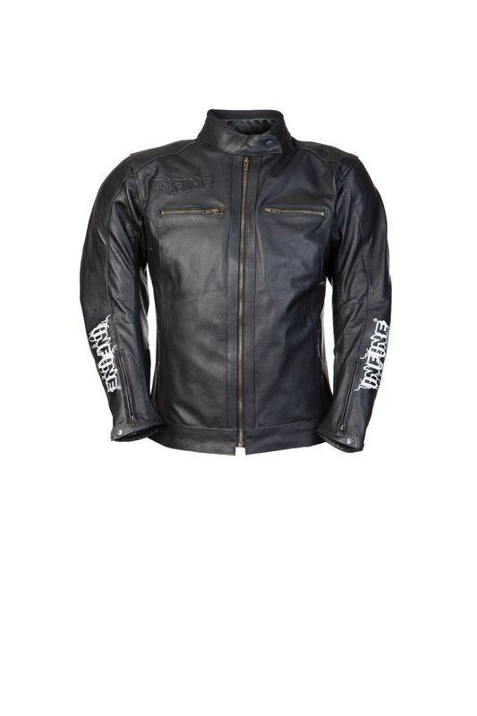ROAD LADY dámská černá kožená moto bunda INFINE XS
