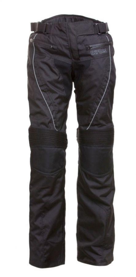 QUEEN dámské černé textilní moto kalhoty INFINE M