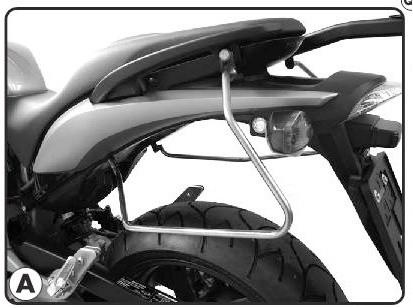 TK219 nosič bočních brašen HONDA CB 600 F HORNET (07-10)
