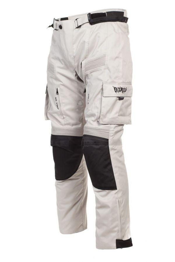 DESERT-GR šedé textilní moto kalhoty INFINE M