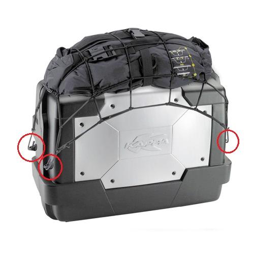 E125K - sada přídavných oček pro uhycení síťky ke kufru GARDA KGR KAPPA