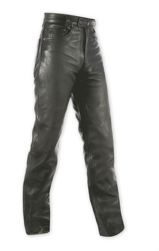 5 TASCHE - pánské černé kožené moto kalhoty A-pro - 44 (30)