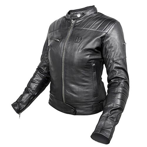 GARAGE HJL301FB - dámská černá kožená moto bunda HEVIK S