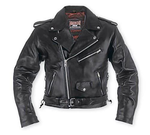 LACCI - pánská černá kožená moto bunda A-pro - M