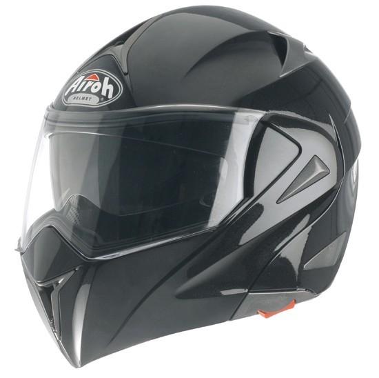 MIRÓ MI06 - výklopná černá moto helma Airoh XXL
