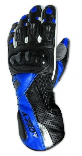 GINGER - dámské modré kožené moto rukavice GUD-GIBL A-Pro L