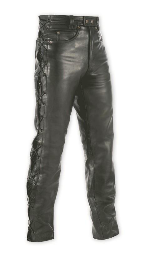 5 TASCHE LACCI - LEGEND - pánské černé kožené moto kalhoty A-pro - 30