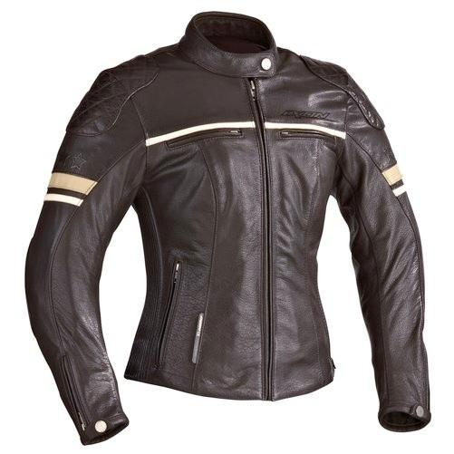 MOTORS LADY - dámská hnědá kožená bunda IXON - XL