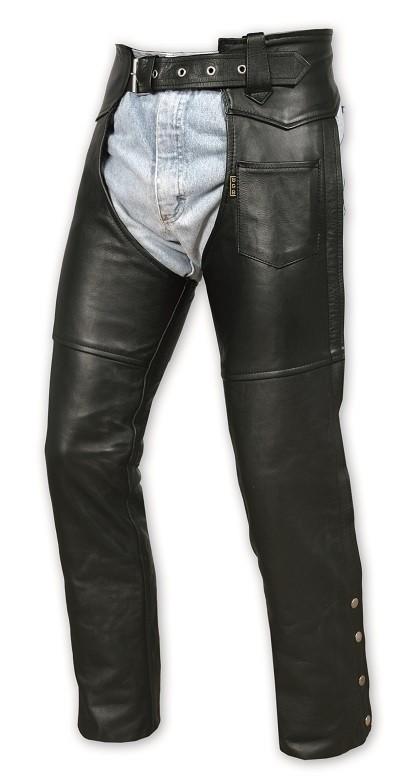 CHAPS - pánské kožené návleky kalhoty A-pro - 44 (30 USA)