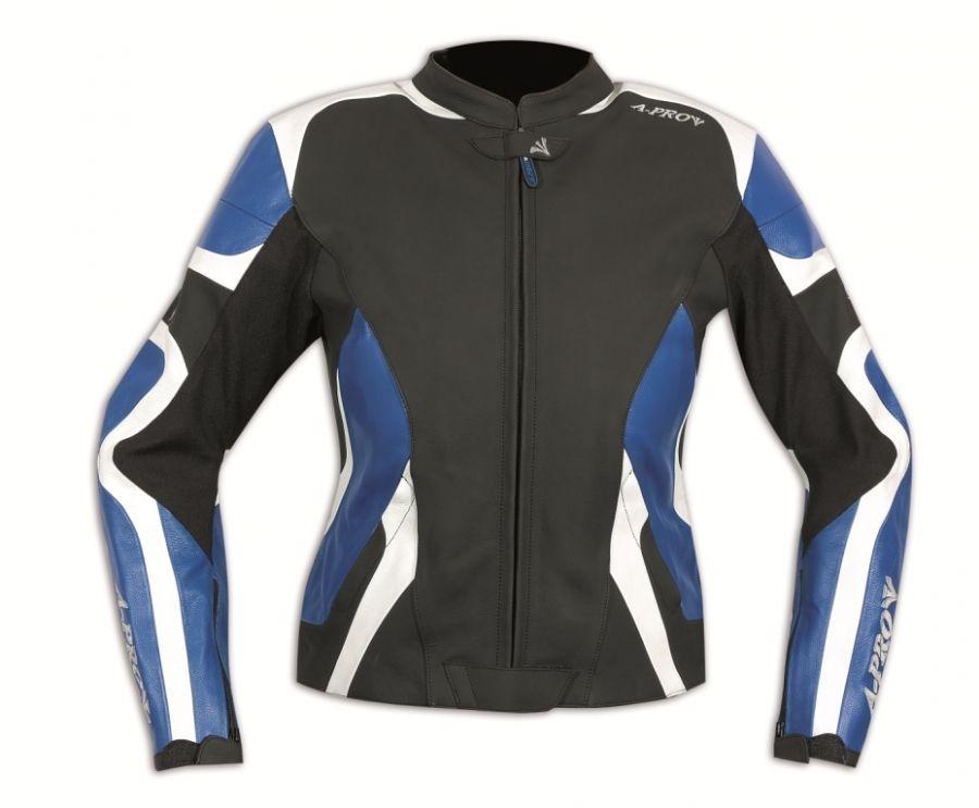 SCINTILLA modrá dámská kožená moto bunda A-pro - L