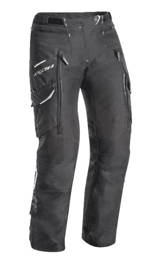 SICILIA L. PANT C - 1001 dámské černé nadměrné textilní moto kalhoty IXON - C-2XL