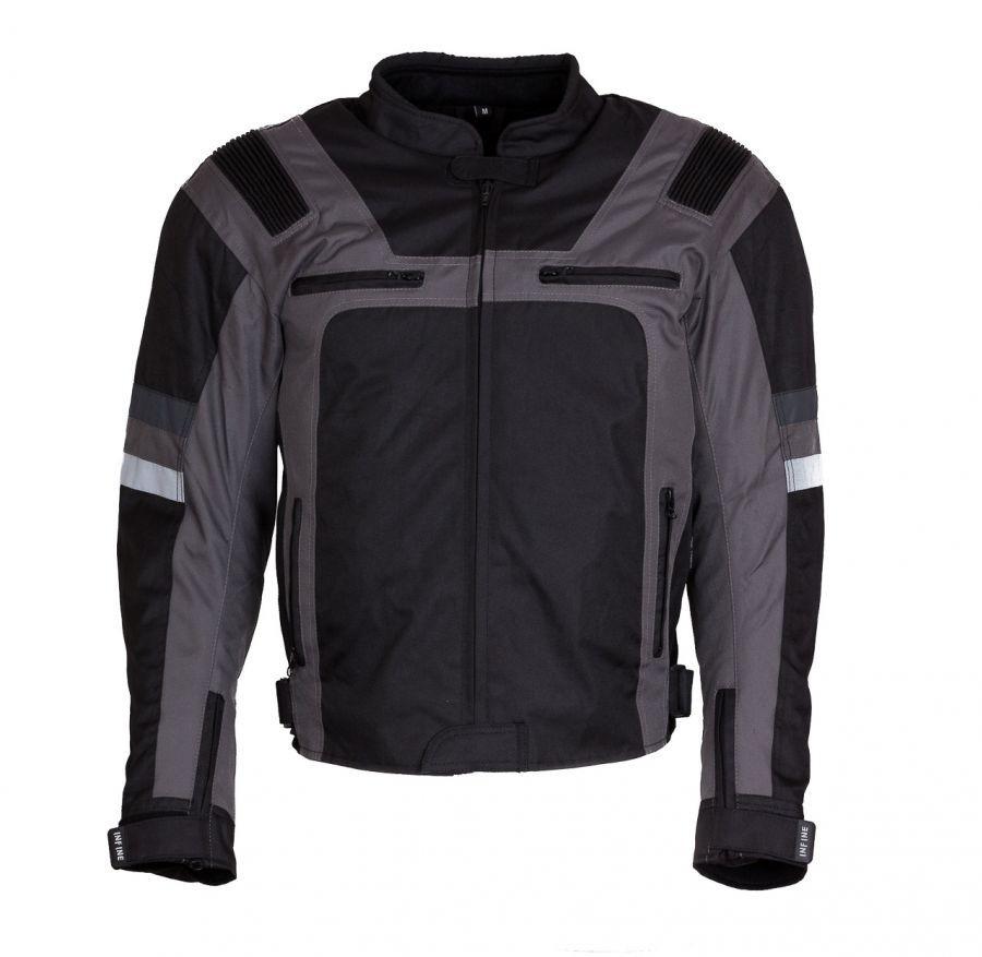 CST šedá textilní moto bunda INFINE 2XL