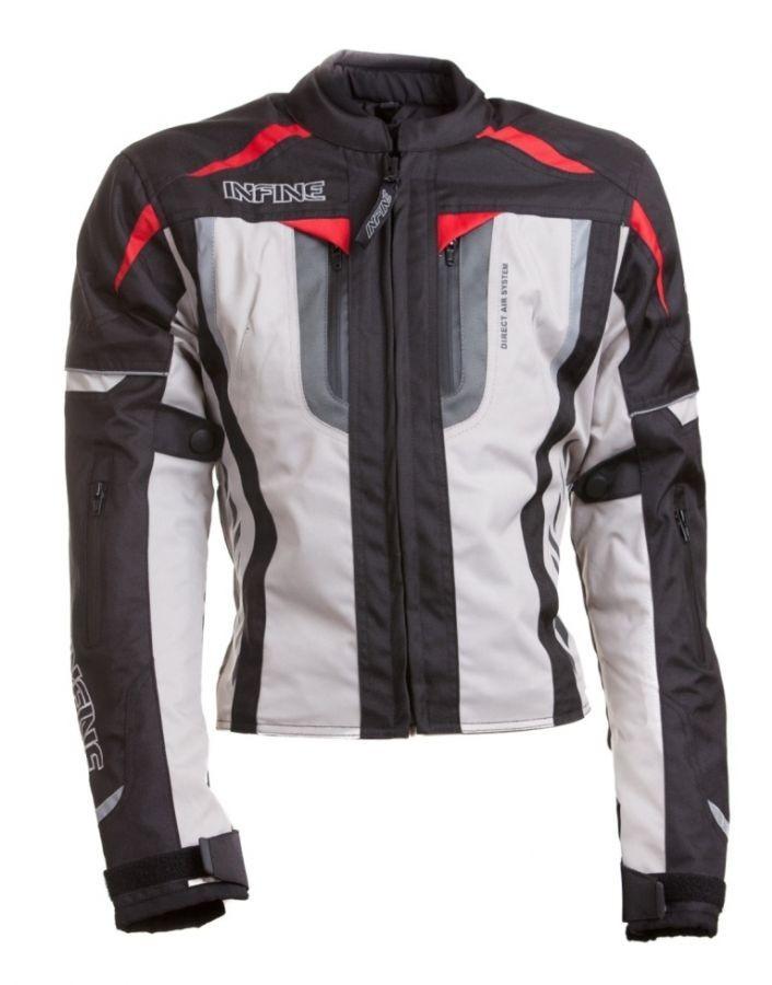 NIGHTINGALE - dámská šedá textilní moto bunda INFINE S