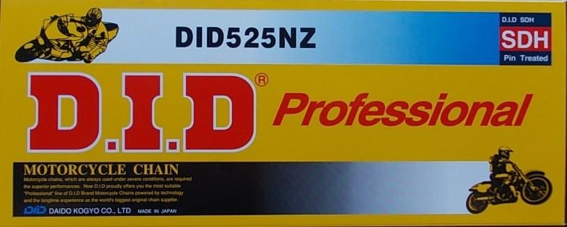 525 NZ silniční+enduro řetěz D.I.D. Závlačka