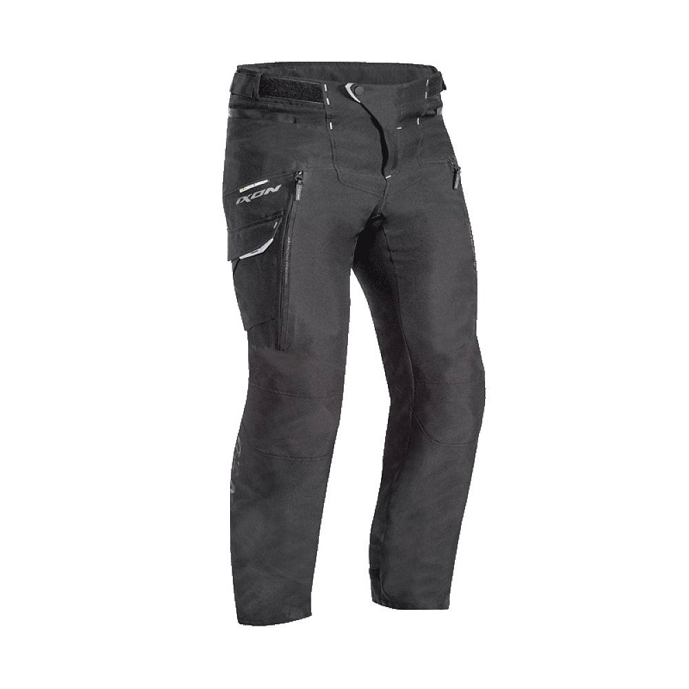 SICILIA PANT C - 1001 pánské černé nadměrné textilní moto kalhoty IXON - C-2XL