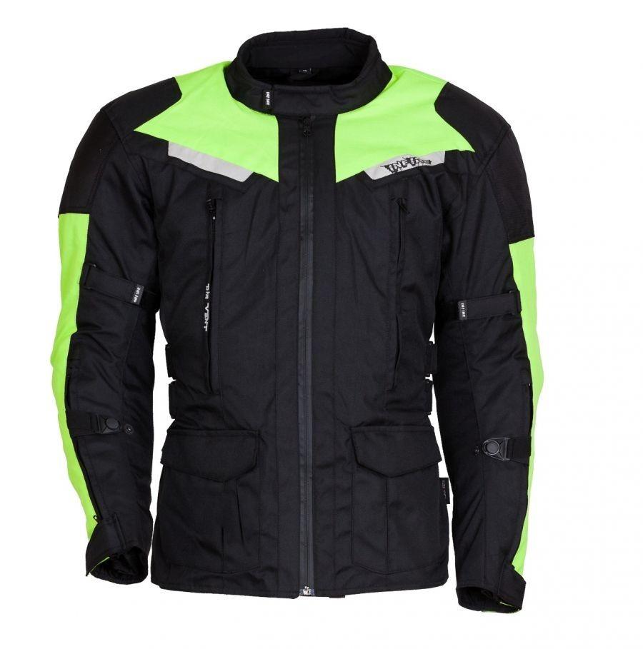CODE zelená textilní moto bunda INFINE M