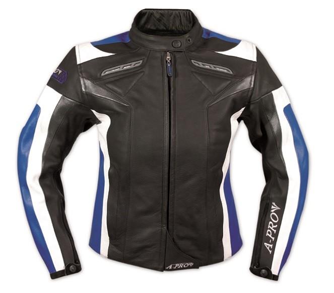 ARROW LADY modrá dámská kožená moto bunda A-pro - S