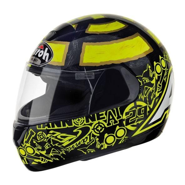 SPEED FIRE ONE SPON17 - integrální žlutá helma Airoh XL