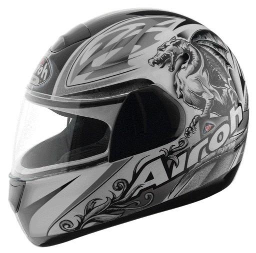 SPEED FIRE GRIFO SPF17 - integrální šedá helma Airoh XL