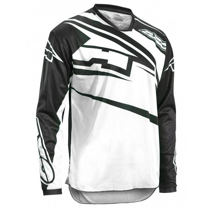 SR černobílý KW - off-road dres AXO - XL