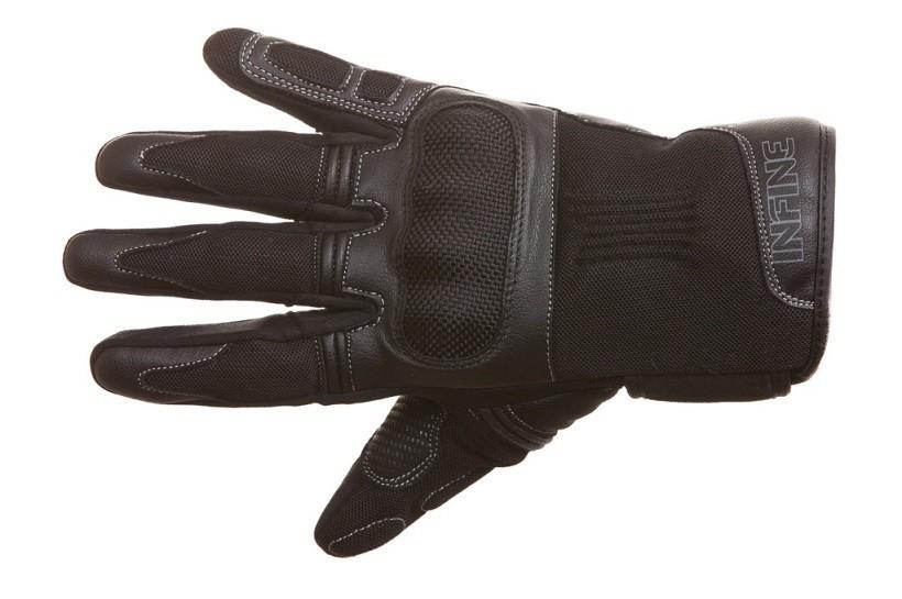 OCT-100 - letní černé textilní moto rukavice INFINE L
