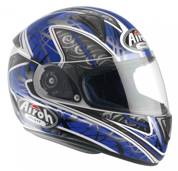 LEOX TRIBAL LXT18 - integrální modrá helma Airoh XL