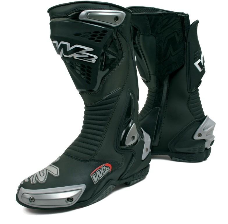 MISANO magnesiun černé - moto boty W2 BOOTS 40