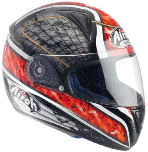 LEOX BAT LXB55 - integrální červená helma Airoh L