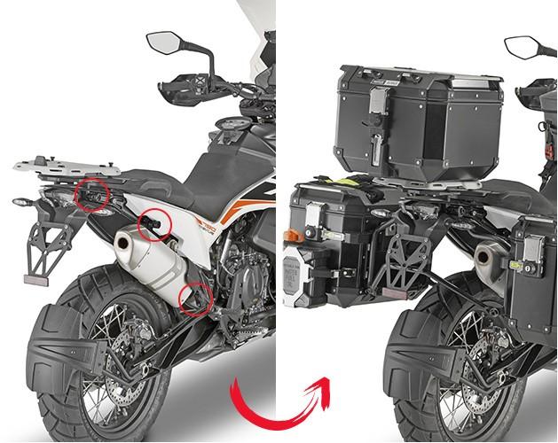 KLOR7710CAM nosič bočních kufrů KTM 790 Adventure / R (19-20)