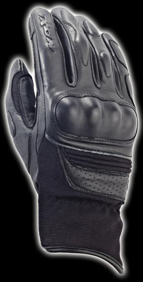 RS HUNT HP LADY - dámské černé textilní moto rukavice IXON - XL